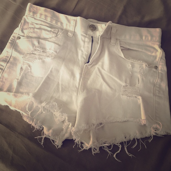 Express Pants - White hot pants